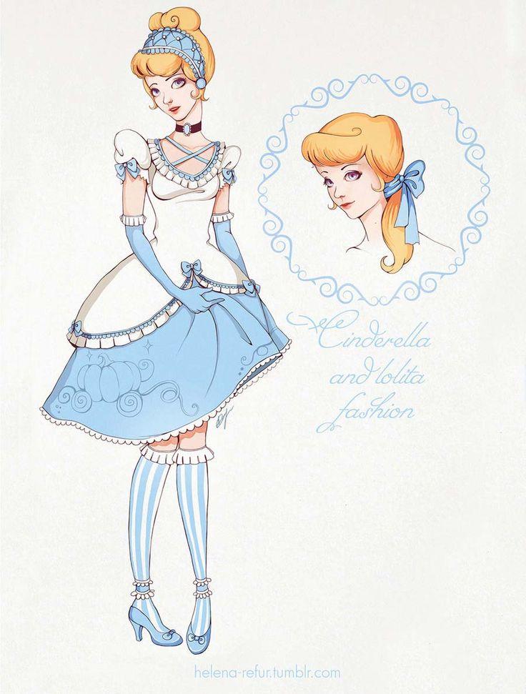 disney-ilustracoes-lolitas-cinderela