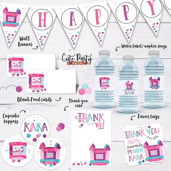 8 best Bounce House Birthday Ideas images on Pinterest Birthday - how to make a birthday invitation on microsoft word