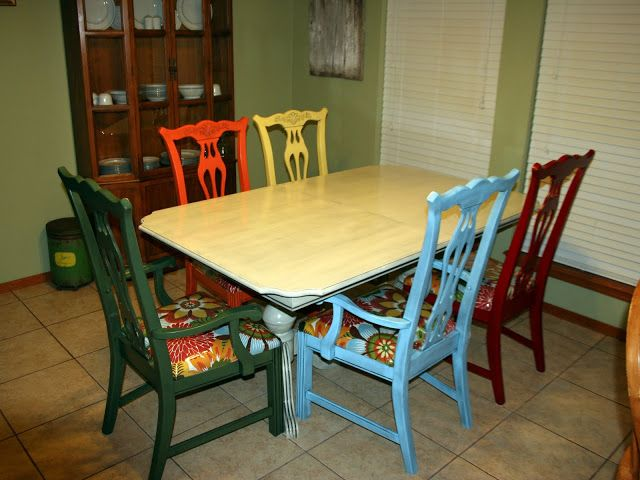 Stencil Wall by Alison and a Dining Room Table Redo by Jen!