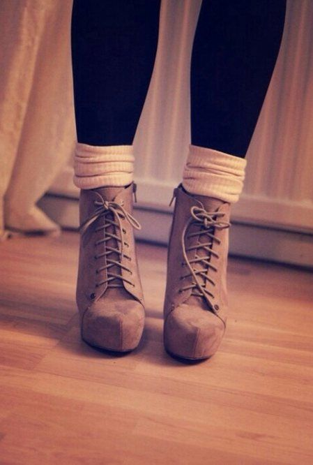 Absolutely loves boots with a heel think they are so cute