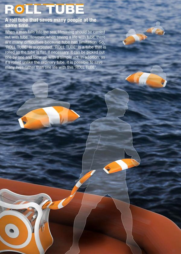 Roll Tube Flotation Device by Chanyeop Jeong