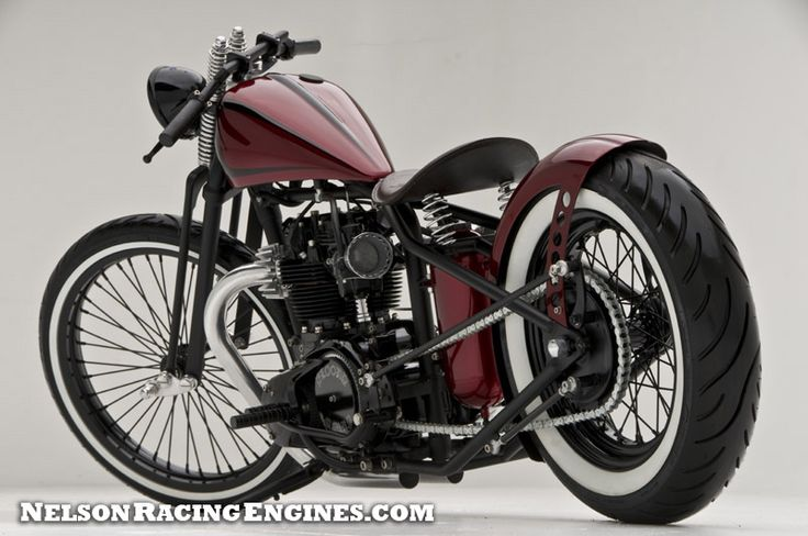 TRIUMPH BOBBERS: Bloody Marry Triumph Bobber - repined by http://www.vikingbags.com/
