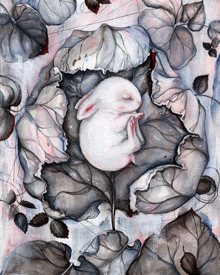 'Wintersleep'  cute illustration by Marjolein Caljouw Netherlands. 'Зимний сон' милая иллюстрация Майелен Кальоув Нидерланды.  #иллюстрация #живопись #искусство #графика #холст #арт #выставки #art #illustration #pencil #artsy #drawing #draw ##contemporaryart #urban #sketchbook #graphic #exhibitions #pen #timetoart
