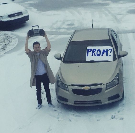 """Promposal Ideas – """"No Brainer"""" Ways to Ask Someone to Prom  80's Promposal"""