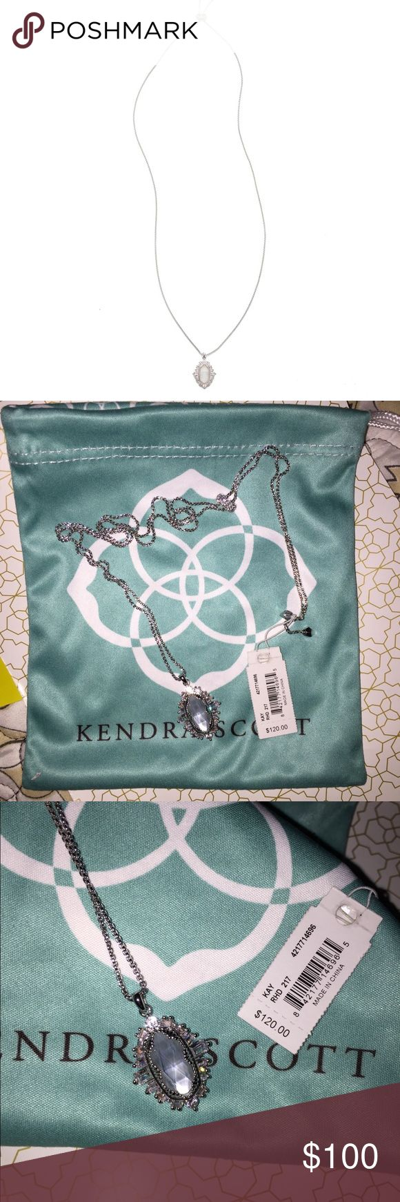 Kendra Scott Kay necklace Brand new beautiful Kendra Scott Kay necklace in silver Kendra Scott Jewelry Necklaces