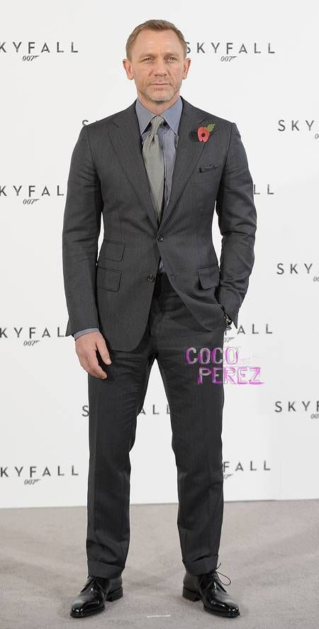Daniel Craig Tom Ford Bond Skyfall Grey suit