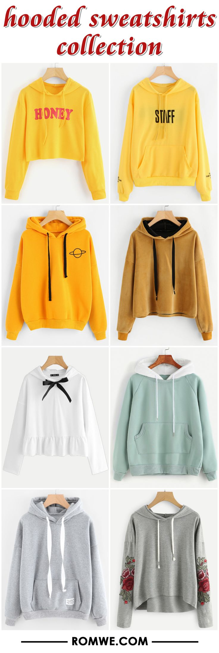 hooded sweatshirts collection from romwe.com