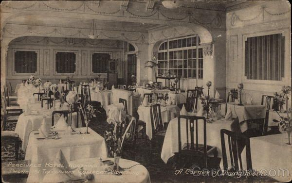 A Corner of Dining Room, Percivals Hotel Worthing United Kingdom