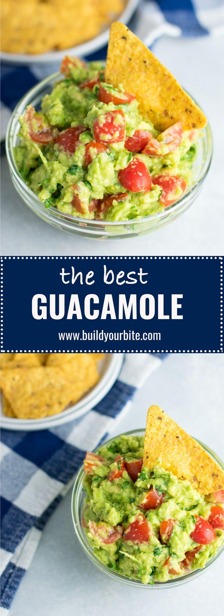 The best small batch guacamole recipe with cherry tomatoes. #vegan #guacamole #bestguacamole #appetizers #gamedayfood