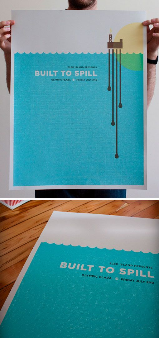 Screen-printed posters by Justin LaFontaine. #illustration (via @Seamless Creative)