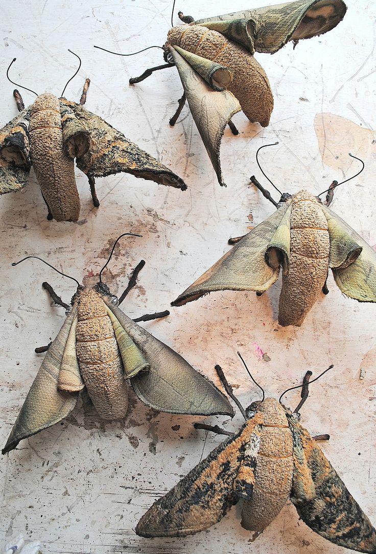 Textile Moths By Mister Finch: Mister Finch, Fiber Textiles, Textiles Moth, Art Inspiration, Forests Moth, Textiles Art, Based Artists, Amazing Artists, Fiber Art