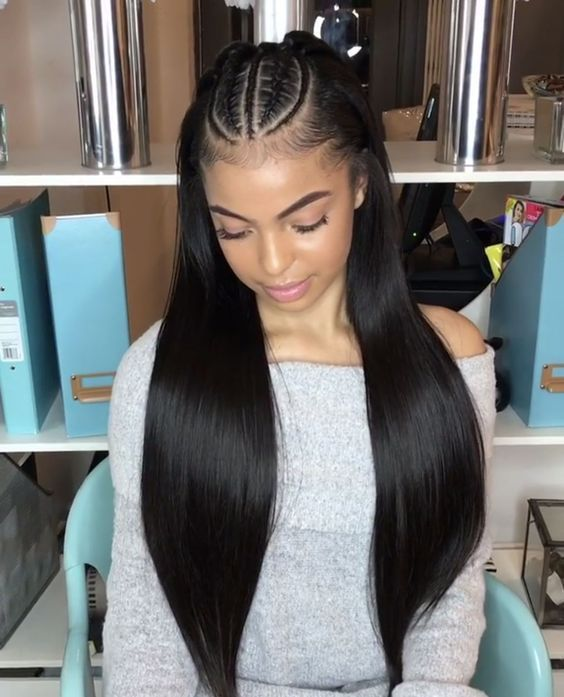 Pin On Straight Hairstyles For Black Women