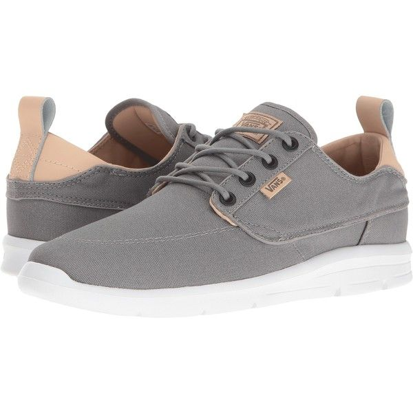 Vans Brigata Lite ((C&L) Frost Gray) Men's Skate Shoes ($60) ❤ liked on Polyvore featuring men's fashion, men's shoes, grey, mens gray shoes, mens canvas boat shoes, mens shoes, mens skate shoes and mens sperry topsiders