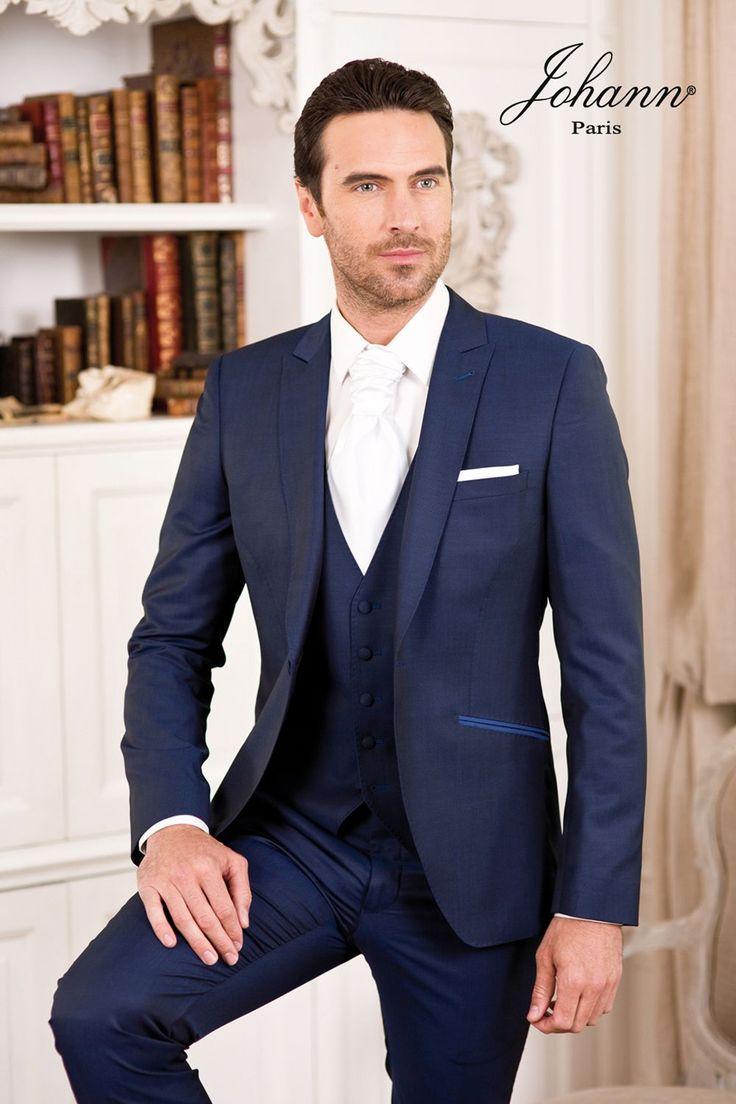 Costume mariage Parigi Bleu Roi avec Gilet                                                                                                                                                                                 Plus
