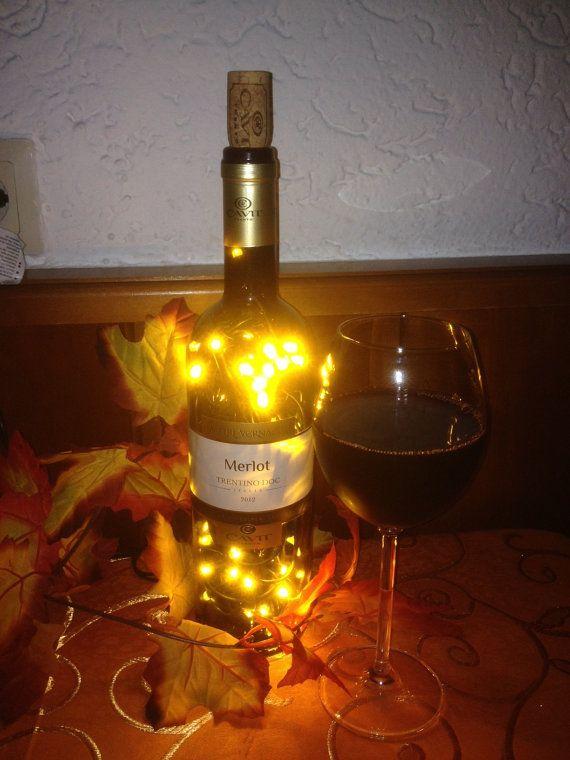 merlot rotweinflasche flasche mit led beleuchtung von. Black Bedroom Furniture Sets. Home Design Ideas