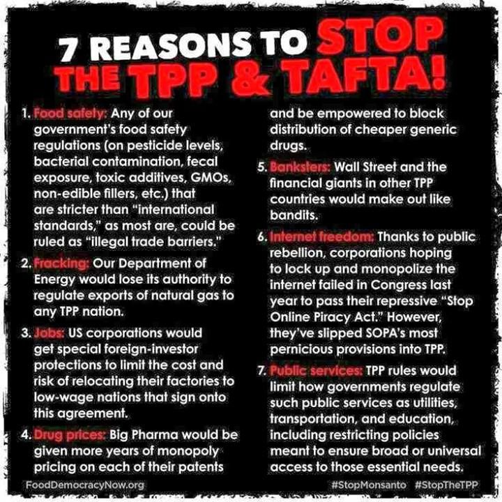 7 Reasons To Stop The Tpp And Tafta Agreed Pinterest Trans