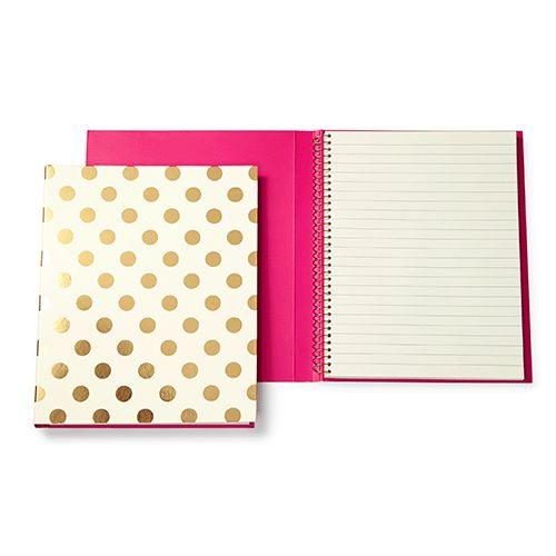 kate spade new york spiral notebook - gold pavilion