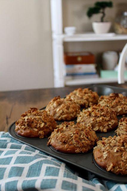 The taste of Myriam !: Apple crisp muffins | Muffins croustade aux pommes