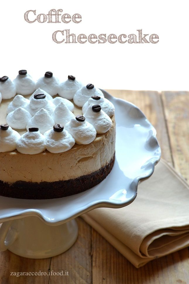 Coffee Cheesecake http://www.zagaraecedro.ifood.it/2015/07/coffee-cheesecake.html