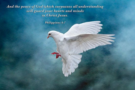 The Peace of God which surpasses all understanding . .