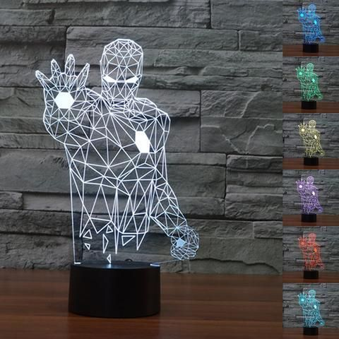 Iron Man 3D Illusion LED Lamp