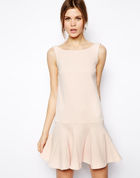 ASOS Pep Hem Shift Dress