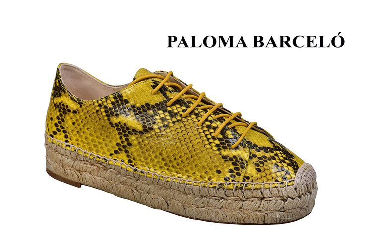Snake skin, wedges and espandrilles... the perfect combination in a Paloma Barcelo pair os shoes. Discover them in Galleria Di Scarpe