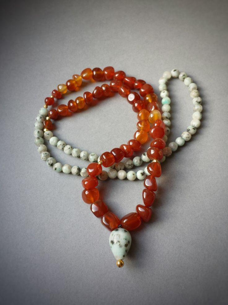 108 beads mala necklace, Red agate and Sesame Jasper mala, yoga necklace, meditation beads, boho gemstone necklace, japa mala by shopOOLA on Etsy https://www.etsy.com/listing/261135455/108-beads-mala-necklace-red-agate-and