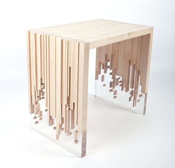 Deceptively Disintegrating Tables - Weightlessness by Eugene Tomsky is a Sculpturally Surreal Design (GALLERY)