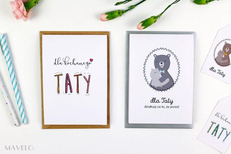 Kartki i etykiety na Dzień Taty (2 wzory do wydrukowania)