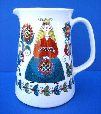 Saga Norsk Figgjo Flint Norway Pottery Mythical Folk Art