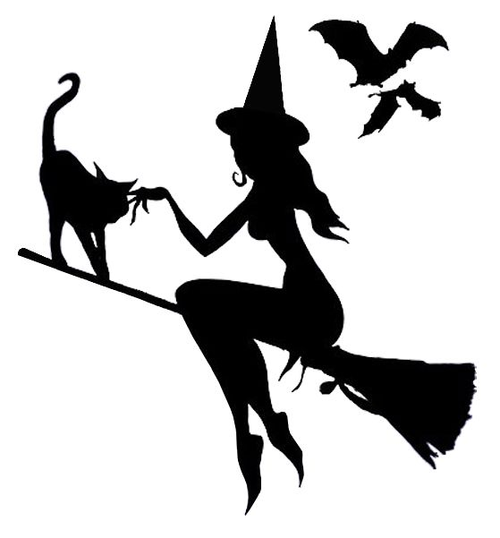 Good Witch Flying - Pumpkin Template