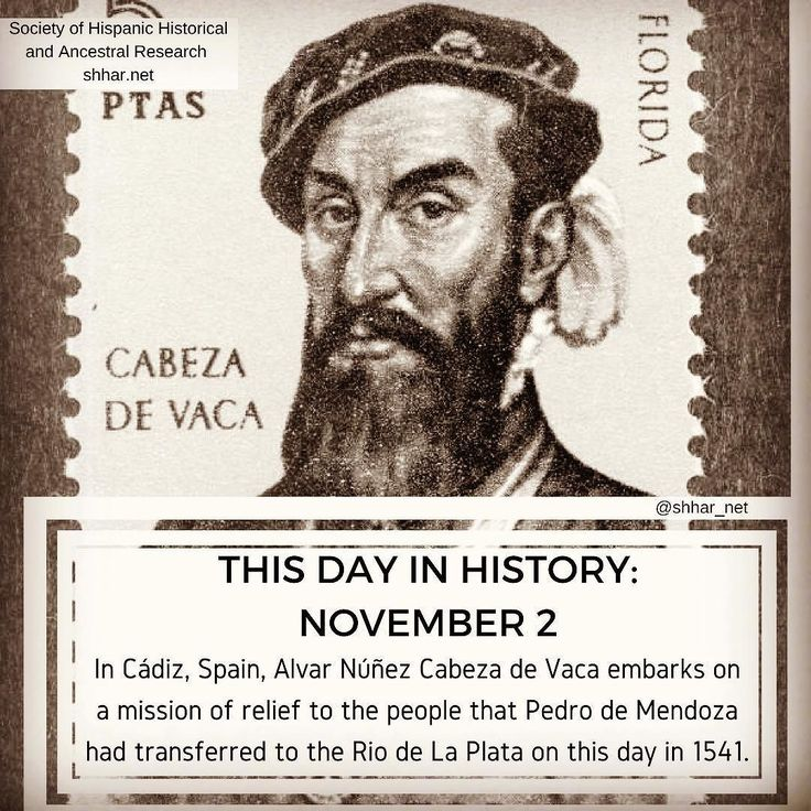 In Cádiz Spain Alvar Núñez Cabeza de Vaca embarks on a mission of relief to the people that Pedro de Mendoza had transferred to the Rio de La Plata on this day in 1541.    #thisday #thisdayinhistory #october #history #hispanichistory #hispanicheritage #genealogy #shhar #somosprimos #wearecousins #november1 #alvarnunezdevaca #alvarnunezcabezadevaca #riodelaplata