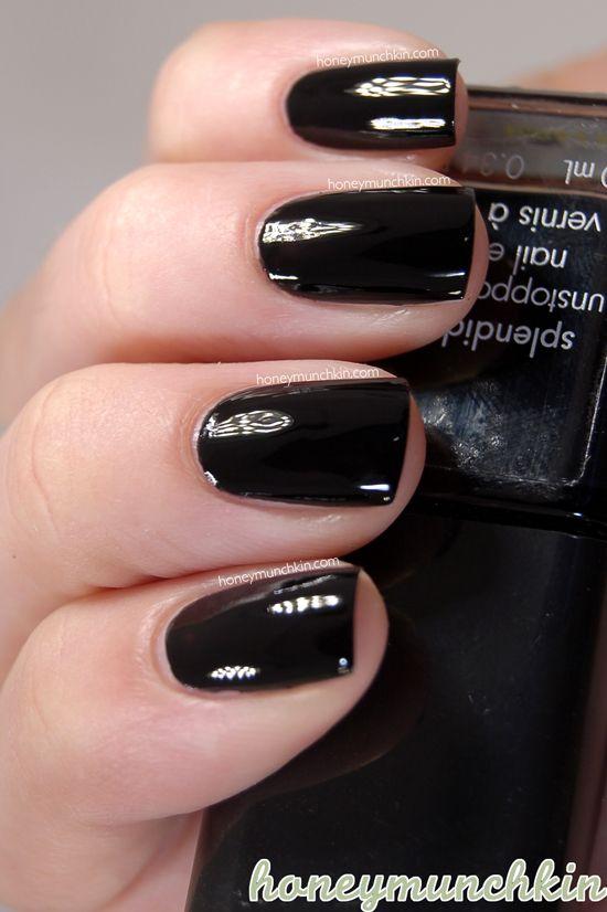 72 best Black Nail Polish images on Pinterest | Black nail, Black ...