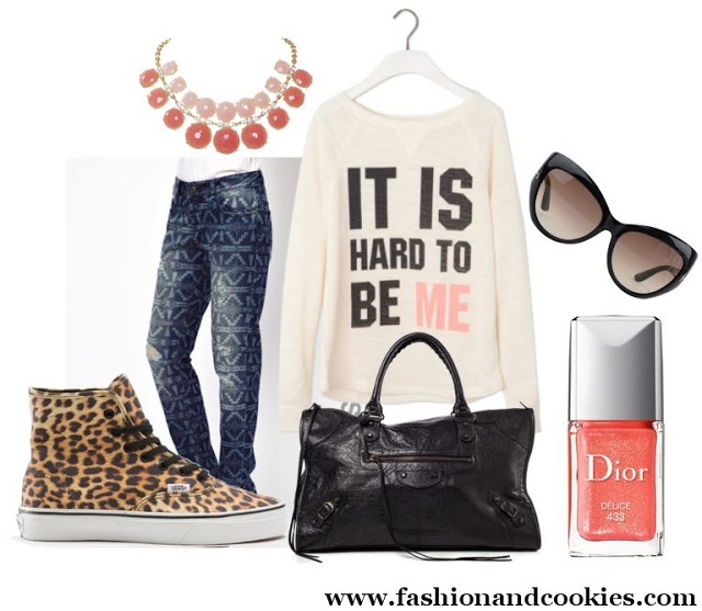 Casual but fun outfit with Vans sneakers