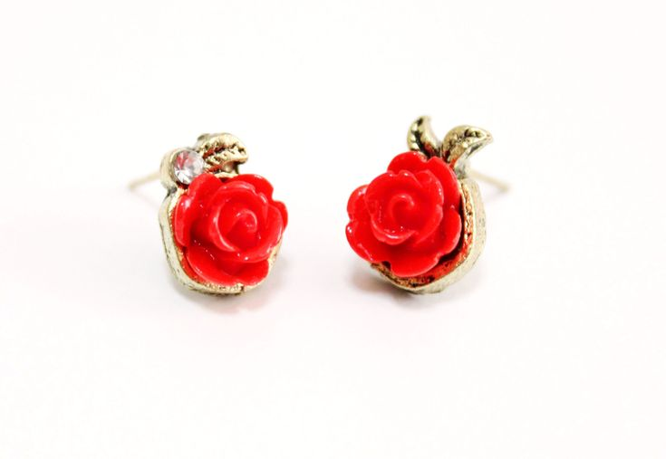 Rose Stud Earring Rhinstone Post earrings Antiqued brass Affordable Small Simple Cute Stud Earrings Cheap and cute gift for her Stud earrings Red rose earrings Mini Rose earrings Red stud earrings Gift for her Earrings cute gift Rhinestone stud Cute gift for her Girlfriend xmas gift Fashion earrings Romantic Casual Casual Sport Fashion Classic Trendy 21.00 USD #goriani