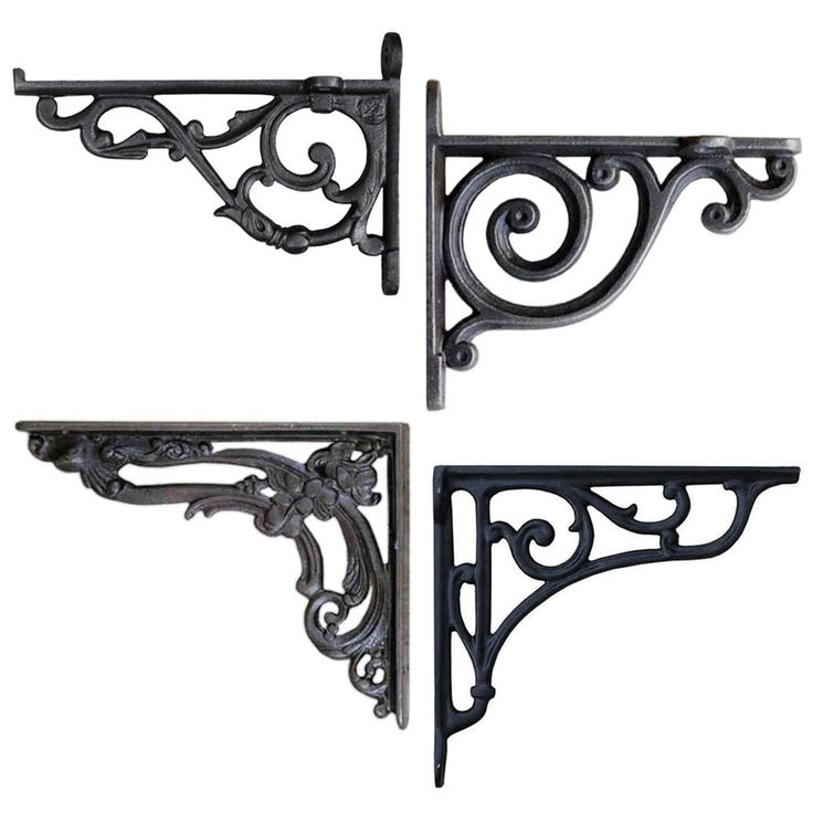 Unique rustic un-lacquered antique iron for an authentic look. Traditional design wall mounted shelf bracket. This product is created using genuine cast iron. Can be used to support traditional Victorian toilet cisterns. | eBay!