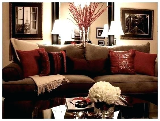 Red And Gold Living Room Decor Red Gold And Brown Living