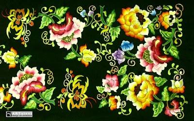 Suji Caia hand embroidery pattern #minang #heritage
