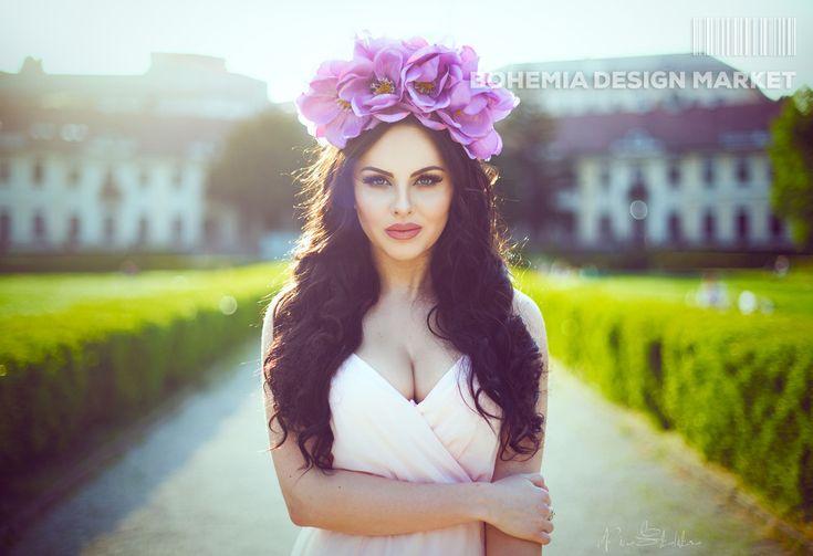 >>Big flowers headdress of magnolia flowers - by Čarbičková Design<<  Enjoy Uniqueness & Quality of Czech Design http://en.bohemia-design-market.com/designer/carbickova-design  @BohemiaDesignM #love #design #czechrepublic #original