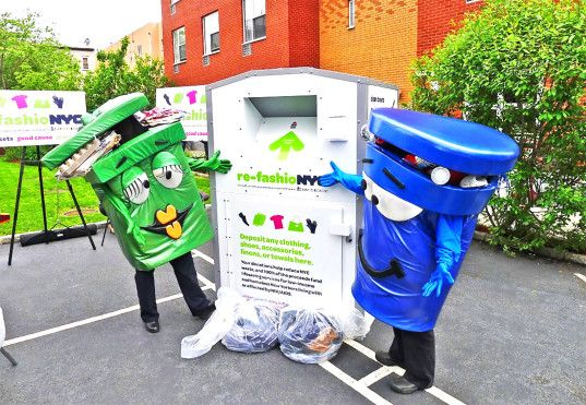 Did you know that you can get a free clothing recycling bin for your building? | Inhabitat New York City