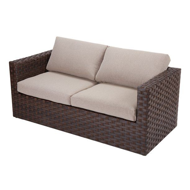 Better Homes Gardens Harbor City Patio Loveseat With Beige Cushions Walmart Com In 2020 Patio Loveseat Beige Cushions Love Seat