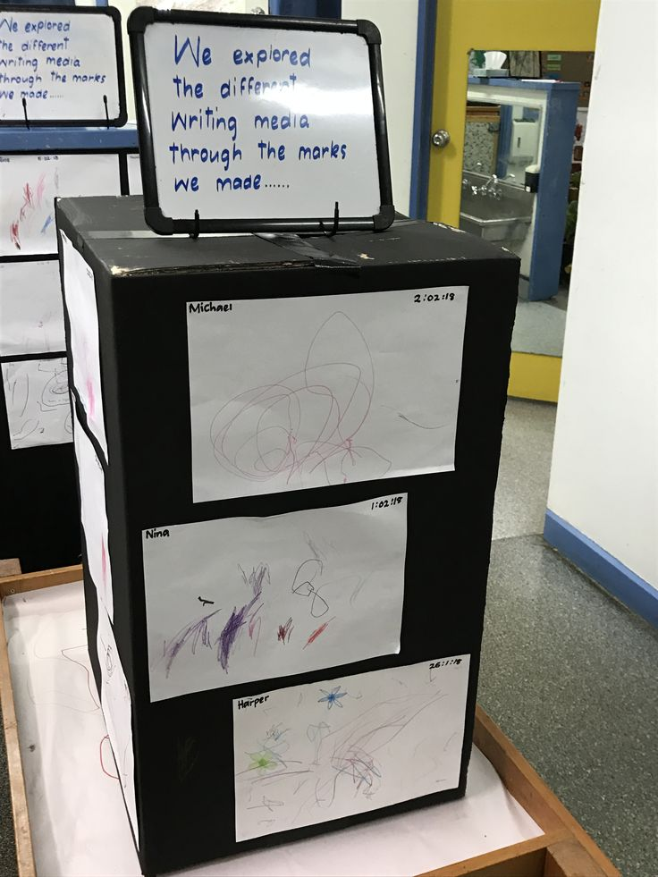 Displaying children's mark-making in the Toddlers