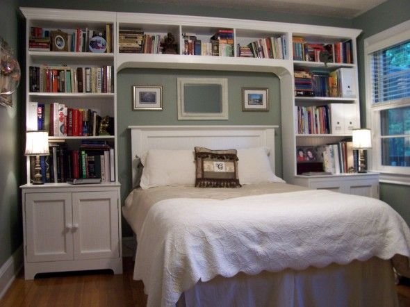 25 best ideas about headboard shelves on pinterest bed - Bedroom furniture bookcase headboard ...