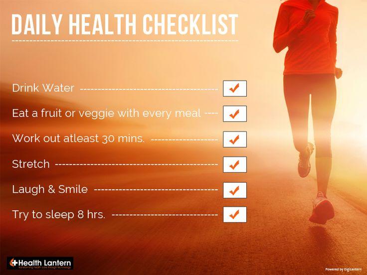Keep it going! . . . #healthchecklist #healthylife #healthlantern #healthcaretechnology