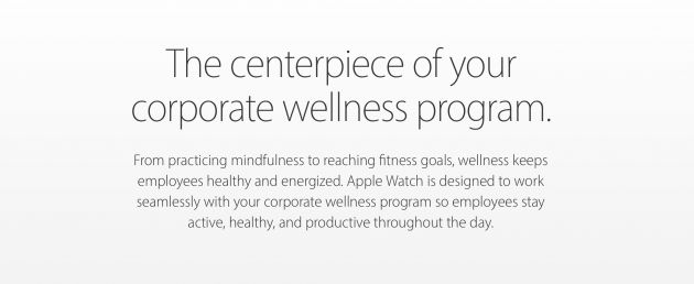 Apple promuove lApple Watch per i programmi di fitness e benessere aziendali
