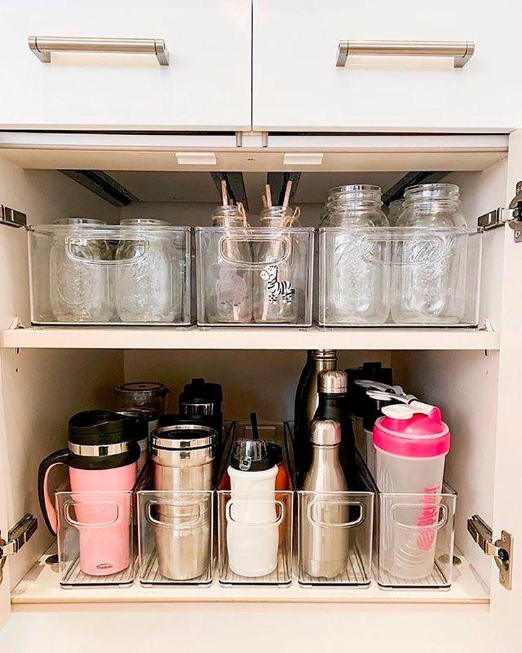 ¿Cómo ordenar y organizar la cocina? | Gourmet Kitchen Organization Pantry, Home Organisation, Organization Ideas For The Home, Bedroom Organization, Organizing Ideas For Kitchen, Home Storage Ideas, Pantry Storage, Organization Station, Shelving Ideas