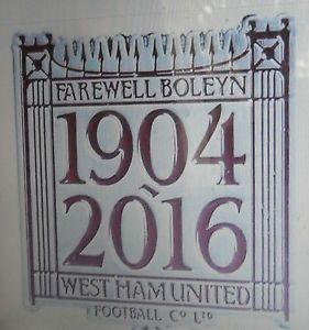 West HAM Brand NEW Official Coloured Farewell TO THE Boleyn Ground Badge | eBay
