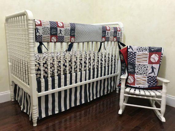 Baseball Crib Bedding Baby Boy Crib Bedding Little Slugger