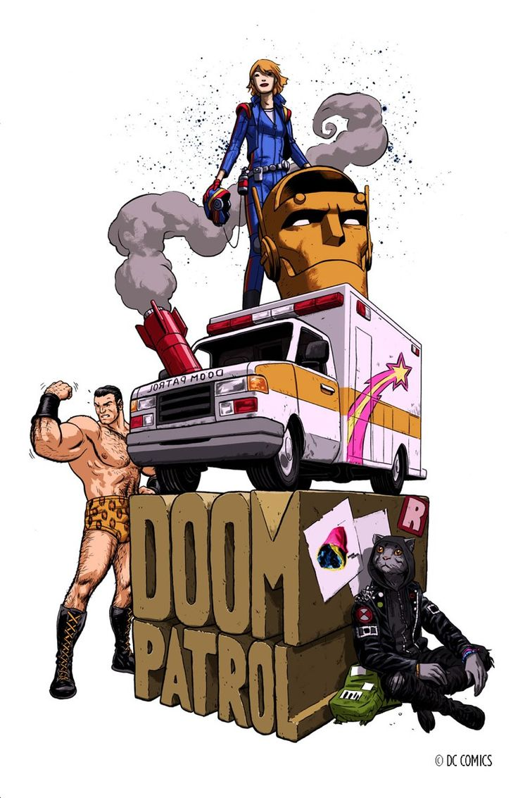 "nickderington: ""It's official! Gerard Way and I are bringing back Doom Patrol! http://www.newsarama.com/28744-doom-patrol-leads-new-dc-imprint-by-gerard-way.html """